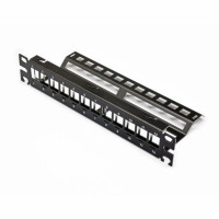 """Patch Panel 10"""", 1U, for 12 KeyStone modules of the modules, the black"""