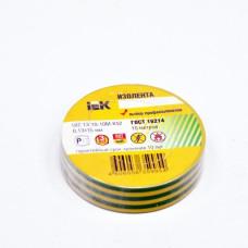 Insulating tape e 0,13mm x 19mm x 10m, green-yellow