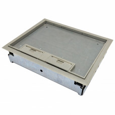 Floorbox for raised floor, 3-section