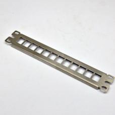 """Патч панель 10"""", 1U, під 12 модулів KeyStone (slim), нержавіюча сталь"""