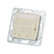 Адаптер 50x50 на 2 модулі Mini-Com з кр. від пилу Panduit