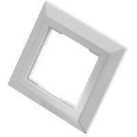 80mm x 80mm faceplate frame accepts all Panduit 50mm x 50mm adapters
