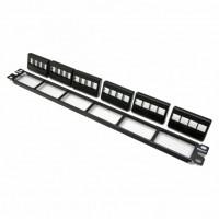 NetKey™ 24-port molded modular patch panel, 1 RU