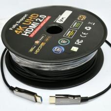 HDMI 2.0 патчкорд 60м  з передачею сигнала 4K UHD по оптичному кабелю (AOC)