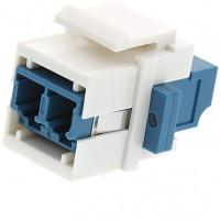 Adapter LC SM Duplex, Keysone, LW, white