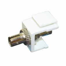 ST / ST, SM, Simplex, KeyStone, LW, white adapter