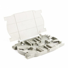 Splice cassette for 24 units, with lid, gray, LW