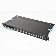 ВО патч-панель LAN1 з 6xLC Duplex адапт., 12 пігтейл., сплайс-касетою, MM, OM3/OM4, 1U
