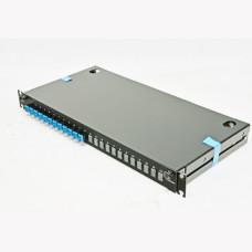 ВО патч-панель LAN1 з 12xLC Duplex адапт., 24 пігтейл., сплайс-касетами, SM, OS2,1U
