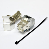 FutureCom™ E100 Shielded  OCK5ESV, E100S Jack, RJ45 Vol, Cat5e, BP480, White