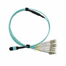 8 Fiber MPO(M)-LC duplex (G50-OM3) 1м