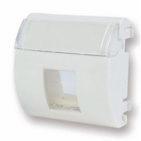 FutureCom™ Keystone Outlet 45 x 45 mm French Style,1 Ports with Shutter