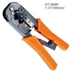 Інструмент для обтискання конекторів RJ12, RJ45, з трещіткою, Hanlong