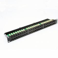 """Патч-панель 19"""" 48xRJ-45 UTP, кат. 6, 1U, dual type, EPNew"""