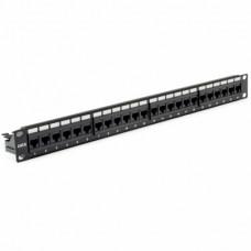"""Патч-панель 19"""" 24xRJ-45 UTP, кат. 6, dual type, із заднім організатором, EPNew"""