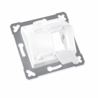FutureCom™ Frame set, 2 ports, inclined, projecting, for 2 x LANscape® Modules
