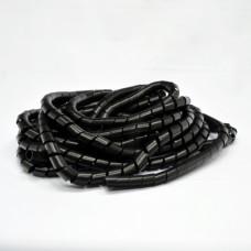 Організатор для уклад. каб. у джгут, спіральний, ПВХ, д. 24 мм, 10 м, чорний, KSS
