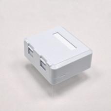 Surface box,dual port,without keystone jack