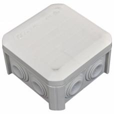 Коробка розподільна, зовнішня, пластикова 90х90х52, 7вводов IP55, без клем.