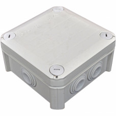 Коробка розподільна, зовнішня, пластикова 114х114х57, 7вводов IP66, без клем.