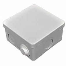 Коробка розподільна, зовнішня, пластикова 90х90; 6вводов IP55,без клем.